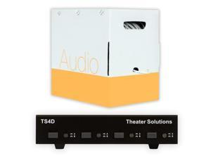 Theater Solutions TS4D Dual Input 4 Zone Speaker Selector Box and 500' of C500-14-2 Wire