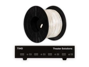 Theater Solutions TS4D Dual Input 4 Zone Speaker Selector Box and 100' of C100-16-4 Wire