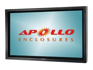 """Apollo Outdoor TV Enclosure fits 50""""-55"""" LED/LCD TV's. Model AE5550-AWM-BL.  Includes weatherproof dual arm articulating wall mount - Black"""
