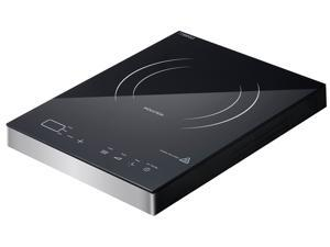 Venpole 14A-3 1400W Durable Single Induction Cooker with Crystal Surface and Germany IGBT Infenion Protection, Silver