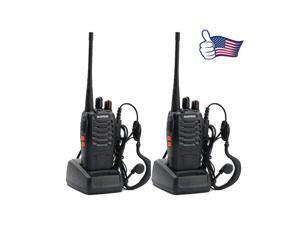 2x BAOFENG BF-888S UHF 400-470MHz 5W 16CH Ham Two Way Radio Walkie/Talkie
