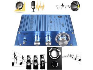 Blue Mini 2CH Hi-Fi Stereo Amplifier Booster DVD MP3 Speaker for Car Motorcycle
