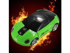 BESTRUNNER 2.4GHz Wireless USB Optical Car Mouse Mice Cordless For PC Laptop-Green