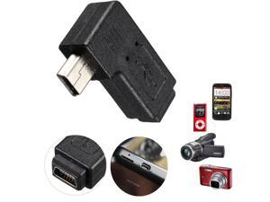 Mini USB 2.0 5 Pin Male to Female Extension Adapters 90 Degree Right Angled