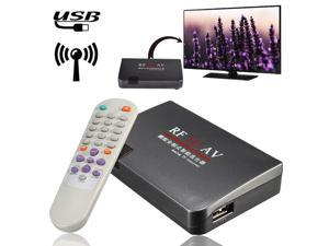 RF To AV Analog Cable TV Receiver Converter USB +Remote Control Whole Rule