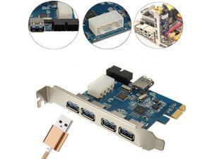 4 Port Super Speed USB 3.0 2.0 PCI-E PCIE Express Expansion Card Adapter HUB Internal Chipset Card 20P