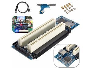 PCI-E Express x1 to Dual PCI Riser Extend Adapter Card With 7.5m USB 3.0 Cable