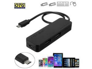 OTG Micro USB HUB Male to Female +4 USB 2.0 Port Charger Adapter Cable for Phone