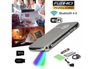 Mini Pocket Portable Bluetooth 1080P HD LED DLP WiFi Home Cinema Theater Projector Quad-core HDMI