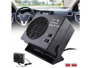 Adjustable 12V 150/300W Ceramic Car Fan Heater Heating Warmer Caravan Window Defroster Demister