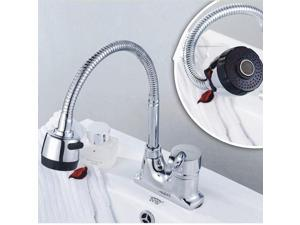 Flexible Spring Kitchen Sink Faucet Sprayer Swivel Faucet Pull Down Mixer Tap