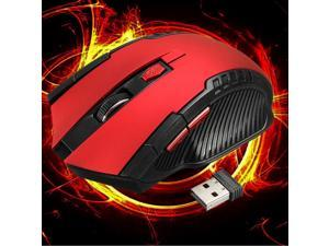2.4GHz 6D 3000DPI USB Wireless Optical Gaming Mouse Mice For Laptop Desktop PC-Red