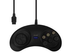 Wired Classic Controller for Sega Genesis Black