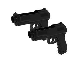Wii Semi-Auto Pistol Gun for Wii (Set of 2) Remote NEW