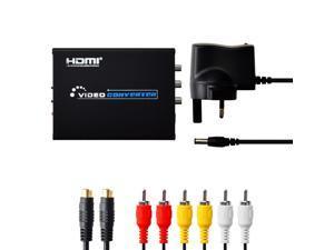 HDMI to Composite S-Video AV Converter Adapter UK Plug