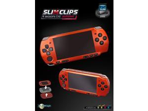 Talismoon Aluminum SlimClips Protect Case Cover for PSP Slim Lite 2000 Red
