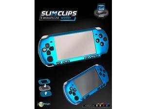 Talismoon Aluminum SlimClips Protect Case Cover for PSP Slim Lite 2000 Blue