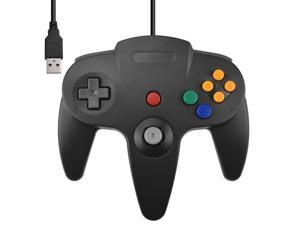 Direct USB N64 Wired Classic Controller Pad for Windows PC Mac Deep Gray Black