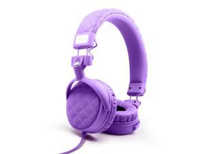 Nakamichi NK600 Series On-The-Ear Headphones with Mic - Retail Packaging - Violet