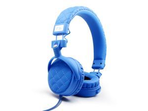 Nakamichi NK600 Series On-The-Ear Headphones with Mic - Retail Packaging - Sky Blue