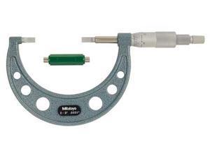 MITUTOYO 122-127 Blade Micrometer,2-3 In,0.030 Steel