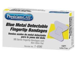 PHYSICIANSCARE 1-696 Bandage, Blue, Fabric, 2inLx1-3/8inW