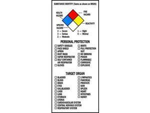 """NFPA Label, Brady, 99197, 8""""Hx3""""W"""