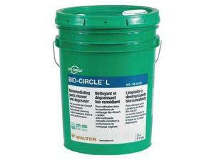 BIO-CIRCLE 55A007 Parts Washer Clean Solution,5.2 gal