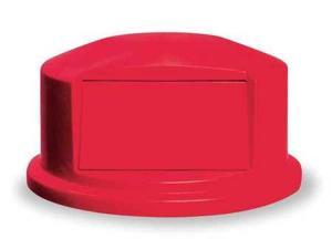 RUBBERMAID FG265788RED Trash Can Top, Dome, Red, 27-1/4 In. Dia.