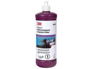 3M 06085 Rubbing Compound, 1 Qt., Bottle, White