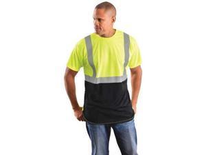 OCCUNOMIX LUX-SSETPBK-YL Short Sleeve T-Shirt, Men, Class 2, Ylw, L
