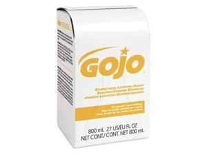 GOJO 9102-12-B5P00 Lotion Soap,800mL,Natural Lotion,PK12
