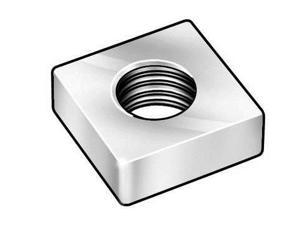 1XB12 Square Nut, 8-32, Pk100