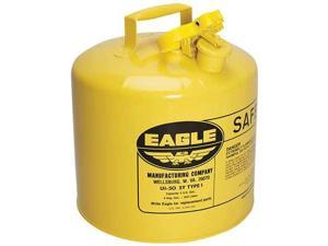 EAGLE UI50SY Type I Safety Can, 5 gal, Yellow, 13.5In H