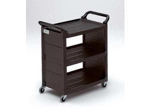 RUBBERMAID FG342100BLA Utility Cart, 150 lb. Load Cap., Plastic