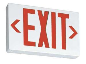 ACUITY LITHONIA EXR Exit Sign,3.20W,Red,2 Faces