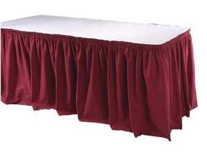 13 ft. Table Skirt, Burgundy ,Phoenix, TSKT-13-BG