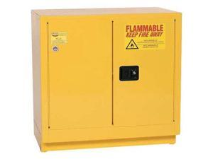 EAGLE 1971 Flammable Safety Cabinet, 22 Gal., Yellow