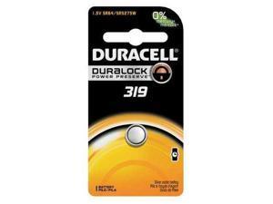 DURACELL D319BPK Button Cell Battery, 319, Silver Oxide
