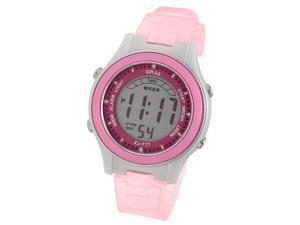 Child Girls Stylish Waterproof Cold Light Digital Alarm Sport Wrist Watch