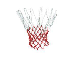 Durable Extra Long Nylon Basketball Net White Red