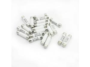 20PCS AC500V 6A RT19 RT14 RT18 R015 Fast Blow Acting Ceramic Fuse Link 10mmx38mm