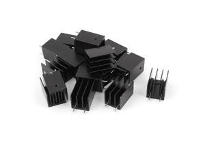 20 Pieces Black Aluminum Cooler Heat Sink Heatsink 25x17x16mm for TO-220 IC