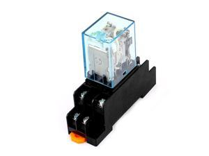 Unique Bargains MY2N-J 110VAC Coil 8Pin DPDT Electromagnetic Power Relay w Socket Base