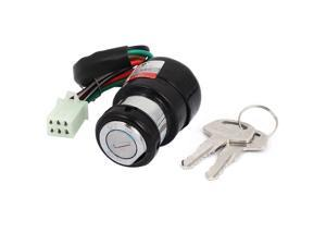 Scooter Kart Motorcycle Bike 6 Wires Electric Ignition Switch Lock w 2 Keys