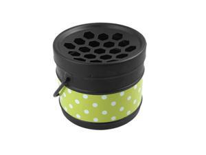 Portable Metal Dot Bucket Ashtray Blk Green for Smoker