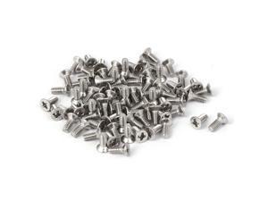 80 Pcs M2x5mm 316 Stainless Steel Flat Head Phillips Machine Screws Fasteners
