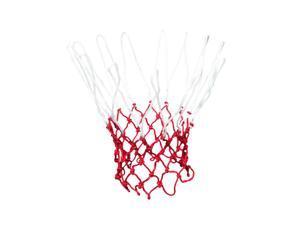 "18"" Long Fashion Style Nylon Basketball Net White Red 13 Loops"