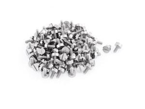 100pcs Computer PC Case Metal Pan Head Slotted Thumb Screws M3x7mm