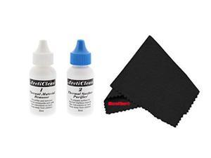 """ArctiClean 60ML Kit (30ml ArctiClean1+30ml ArctiClean2) & MicroFiber (7"""" X 6"""") Cleaning Cloth"""